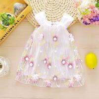 婴儿裙子夏0-3岁女童夏装儿童公主背心裙6个月女宝宝连衣裙