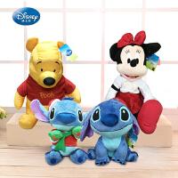 迪士尼经典毛绒玩具娃娃儿童陪睡娃娃正品环保无味