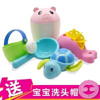 婴儿童洗澡玩具男孩女孩水壶花洒小黄鸭洗头杯套装宝宝戏水车沙滩