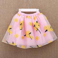 儿童半身裙子 女童中大童纱纱裙短裙 小孩女孩夏季半截网纱蓬蓬裙
