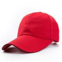 男士鸭舌帽光版棒球帽女士加长帽檐纯色防晒遮阳帽帽子光板