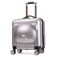 儿童拉杆箱小熊登机箱 20寸 男女旅行箱 行李箱 定制logo礼品箱 20寸 银色