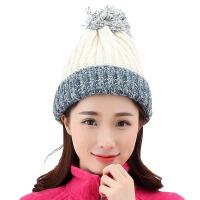 RAX帽子女款户外毛线帽子秋冬天可爱加厚保暖包头护耳针织帽套头