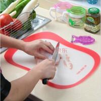磨砂菜板切水果板薄片透明切菜板防滑砧板(四片装)I6101颜色随机