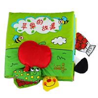 LALABABY拉拉布书新款苹果的故事立体布书教宝宝认识自然益智玩具