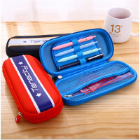 得力66741拉链笔袋 学生文具盒 分区收纳铅笔盒 轻质笔袋收纳文具
