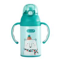 dexbaby宝宝保温杯带手柄学饮杯婴儿水杯儿童 防摔水壶