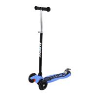 四轮发亮米高滑板车可折叠可升降高级倾斜转向滑板车轮滑滑板