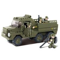 【满200减100】小鲁班陆军部队2军事系列儿童益智拼装积木玩具 陆军运兵车M38-B0301