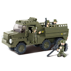 【当当自营】小鲁班陆军部队2军事系列儿童益智拼装积木玩具 陆军运兵车M38-B0301