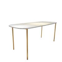 北欧网红大理石餐桌长方形餐桌椅组合现代简约小户型吃饭桌子家用