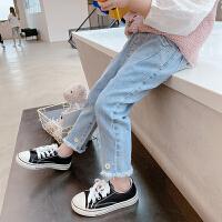 女童牛仔裤夏季儿童季中小童长裤宝宝百搭修身裤子