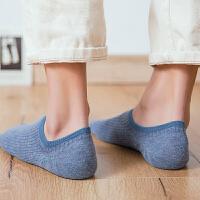 袜子男士棉短袜船袜夏季低帮浅口隐形袜短筒运动袜男袜 深灰 品质男袜5双装 均码