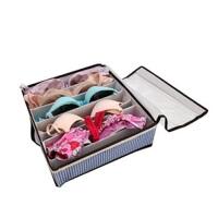 友纳 格子透明有盖七格文胸收纳盒