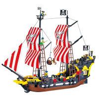 启蒙  益智积木拼插玩具 拼装玩具 拼插模型 海盗系列 黑珍珠308
