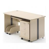 办公电脑桌椅组合台式单人职员游戏桌一体一套家用带抽屉简约现代 1.6*0.8m含柜子 主机架