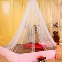 1.5-1.8米床通用男孩婴儿床蚊帐加密圆顶吊顶蚊帐-白色