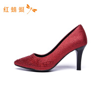 【专柜正品】红蜻蜓尖头细高跟女鞋