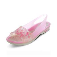 【下单立减120】Crocs正品女鞋卡洛驰色彩布骆格凯蒂猫平底鞋凉鞋|202456 色彩布骆格凯蒂猫平底鞋