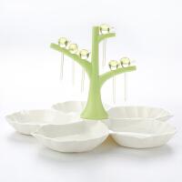 【支持礼品卡】分格果盘创意 现代欧式客厅茶几家用塑料果盆零食盘 新年水果拼盘r7t