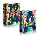 益智游戏认知书全3册 进口英文原版绘本0 3岁 Cityblock/Countablock/Buildablock创意