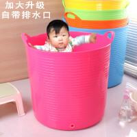 加厚超大号浴桶 儿童洗澡桶 婴儿沐浴桶泡澡桶澡盆游泳池宝宝浴盆