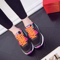 跑步鞋女鞋春夏季休闲运动鞋韩版小清新气垫内增高摇摇鞋女户外慢跑健步旅游鞋子
