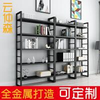 铁艺书架置物架简约现代落地展示架简易书柜省空间储物多层货架子