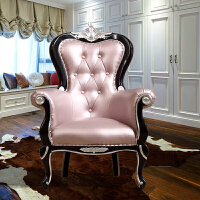 20190816040849188欧式沙发椅新古典实木休闲椅小户型单人沙发洽谈接待椅卧室老虎椅