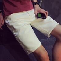 S帅T小码牛仔五分裤男矮个子XS码S号修身短裤160直筒中裤