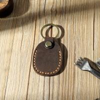 老街记忆创意钥匙包 IC卡真皮钥匙套门禁牛皮小挂件DIY材料包 咖啡色 成品