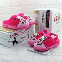 迪士尼hellokitty女童卡通棉拖鞋 宝宝学步鞋保暖防滑可爱地板拖