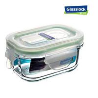 钢化玻璃乐扣微波保鲜盒便当盒饭盒四面锁扣150毫升 RP520