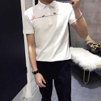 2018新款t恤男士短袖翻领体恤汗衫��血夏季男装有领衬衫领Polo衫