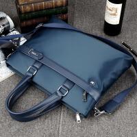男士手提包男包帆布单肩斜挎包商务公文包14寸电脑包文件背包SN1276