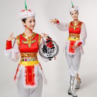 新款蒙古族舞蹈演出服女内蒙古大草原民族广场舞表演服装长裙古服