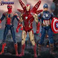 中动漫威复仇者联盟4蜘蛛侠钢铁侠玩具美国队长正版手办模型周边3