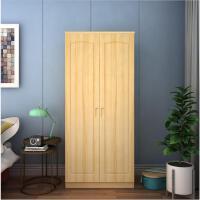 简易衣柜实木衣柜松木衣柜衣柜平开衣柜两门四门衣柜定做 2门 组装