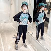 女童套装春装大儿童卫衣洋气女孩时髦运动两件套