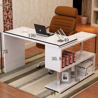 转角电脑桌台式桌 家用办公桌写字桌书桌书架组合 简约现代