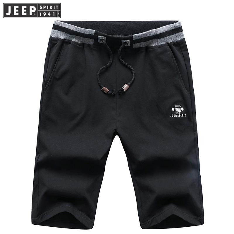 吉普JEEP运动短裤男夏装薄款休闲五分裤男装全棉针织卫裤直筒中腰居家健身跑步短裤吉普出品,就是这么便宜,心动不如行动