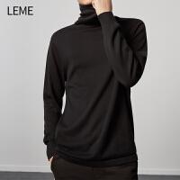 【折上1件6折,2件5折】LEME高领毛衣男新款男士针织衫韩版时尚打底衫线衣