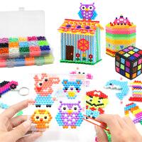 神奇水雾魔珠玩具儿童手工diy制作益智拼豆豆拼图玩具套装女孩