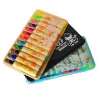 雄狮水彩笔 12色儿童涂鸦粗头绘画笔 粗头学生填色美术套装 圆杆绘画彩笔盒装