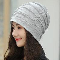 帽子女韩版潮百搭包头帽 休闲时尚堆堆帽防风头巾