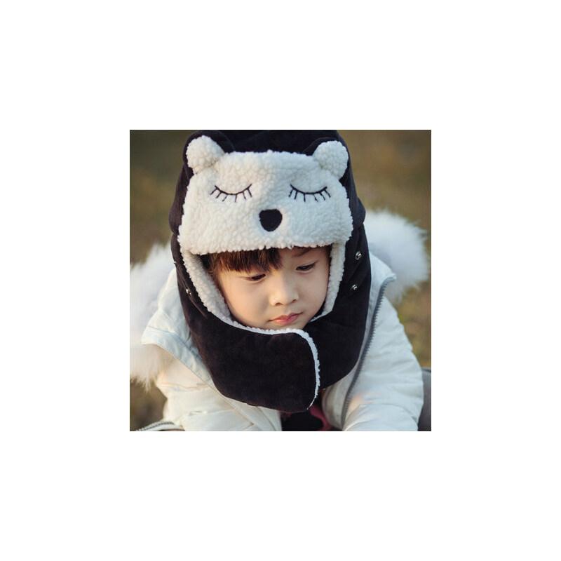 儿童帽子男潮女童男童护耳韩版可爱挡风女宝宝雷锋帽棉帽子
