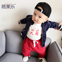 童宝宝婴儿6月0岁三角哈衣春装季连体衣外出衣服新年