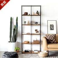 铁艺北欧家具陈列书柜实木书架设计金属玄关架层架简易收纳展示架