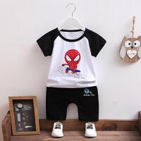衣服儿童蜘蛛侠童装男童套装夏装2018新款宝宝短袖超人衣服