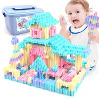 6-7-9-12岁女孩男孩塑料拼插小学生儿童积木拼装玩具